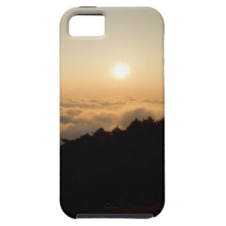Sunset scene in a China Huang mountain iPhone 5 Covers