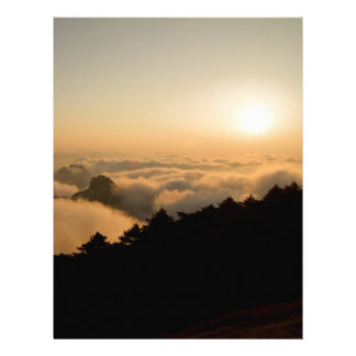 Sunset scene in a China Huang mountain Letterhead