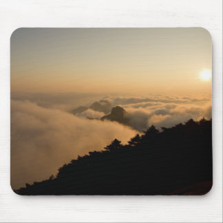 Sunset scene in a China Huang mountain Mouse Pad
