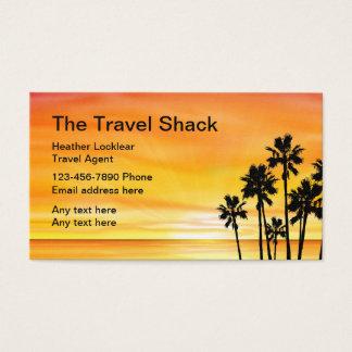 Sunset Scenic Travel Agency Design Business Card
