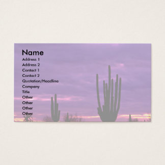 Sunset, Scottsdale, Arizona Business Card