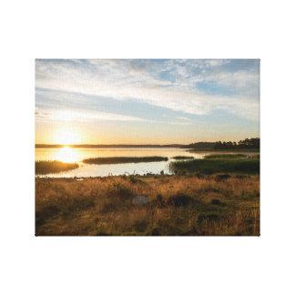 Sunset Sea Canvas Print