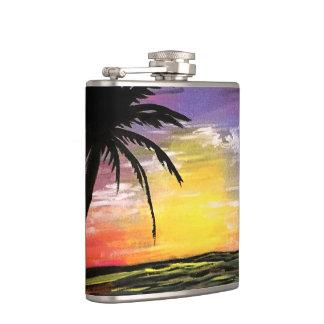 Sunset Sea Hip Flask