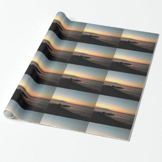 Sunset Sea Photo Glossy Wrapping Paper