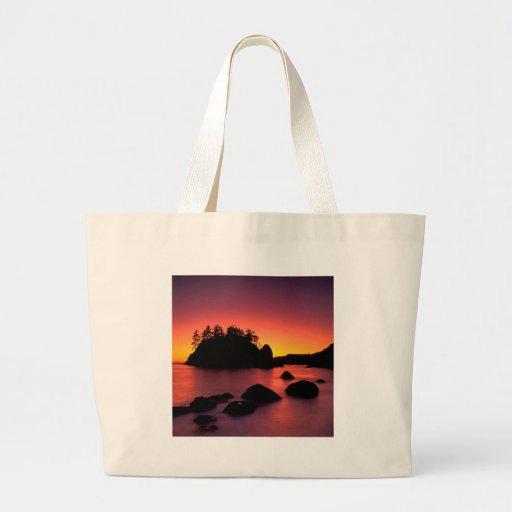 Sunset Seastacks Silhouetted Trinidad Bags