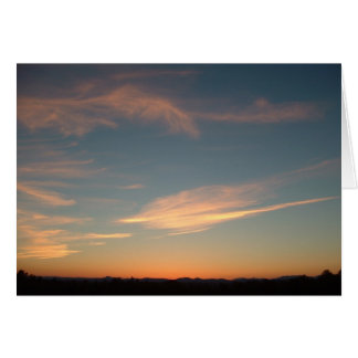 Sunset, September 11 Card