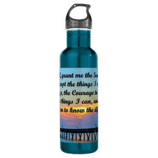 SUNSET SERENITY PRAYER WATER BOTTLE