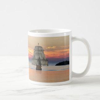 Sunset ship mug