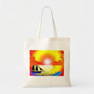 Sunset Ship Tote Bag