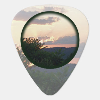 Sunset Silhouette Guitar Pick