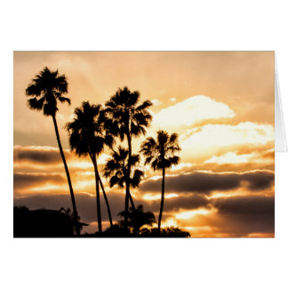 Sunset Silhouette In San Diego Card