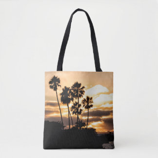 Sunset Silhouette In San Diego Tote Bag
