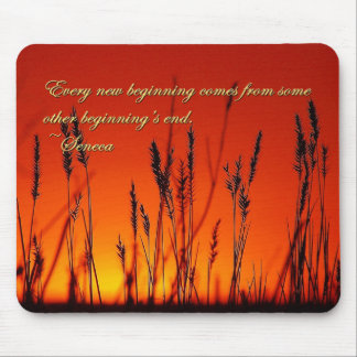 Sunset Silhouette Inspirational Mouse Pad
