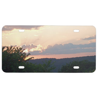 Sunset Silhouette License Plate