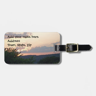 Sunset Silhouette Luggage Tag