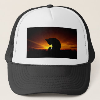 Sunset Silhouette Trucker Hat