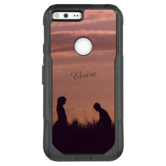 Sunset Silhouettes Nostalgic Photo Custom Name OtterBox Commuter Google Pixel XL Case