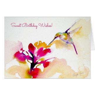 """""""Sunset Sip"""" Hummingbird Print Card"""