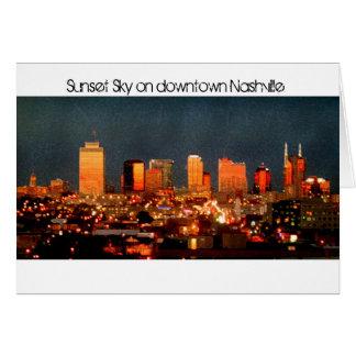 Sunset Sky on Downtown Nashville Card