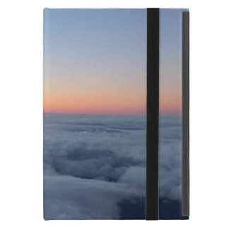 Sunset sky view flying above the clouds iPad mini case