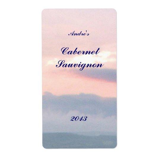 Sunset  Sky Wine Label