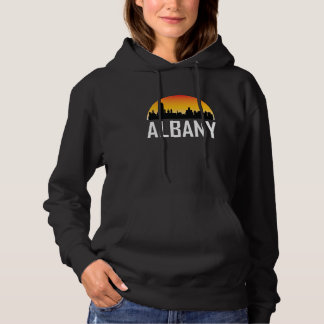 Sunset Skyline of Albany NY Hoodie