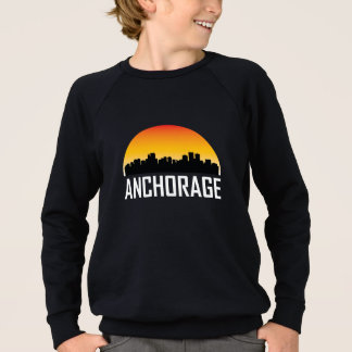 Sunset Skyline of Anchorage AK Sweatshirt