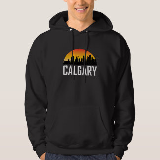 Sunset Skyline of Calgary AB Hoodie