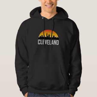 Sunset Skyline of Cleveland OH Hoodie