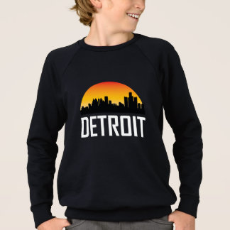 Sunset Skyline of Detroit MI Sweatshirt