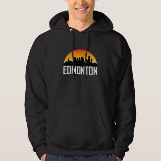 Sunset Skyline of Edmonton AB Hoodie