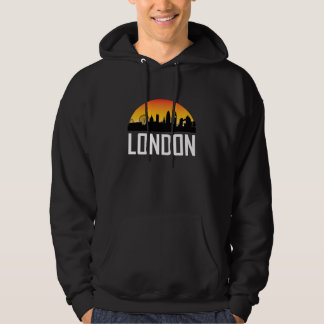 Sunset Skyline of London England Hoodie