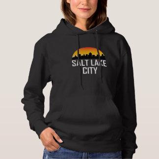 Sunset Skyline of Salt Lake City UT Hoodie