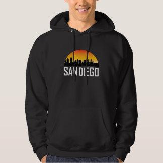 Sunset Skyline of San Diego CA Hoodie