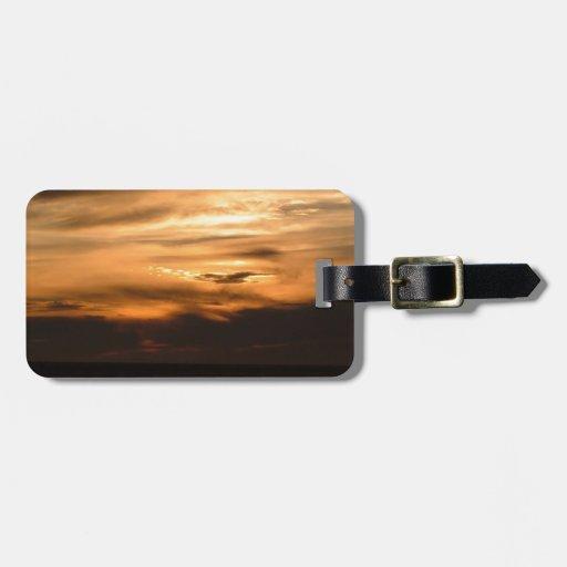 Sunset Smokey Haze Luggage Tags