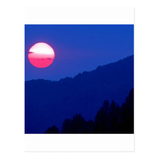 Sunset Smoky Mountain Tennessee Postcard