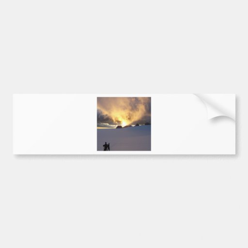 Sunset Snowcapped Bumper Stickers