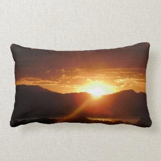 Sunset Snuggles Lumbar Pillow