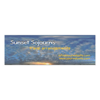 Sunset Sojourns Travel Agent Mini Business Card