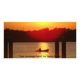 Sunset Solitude Custom Photo Card