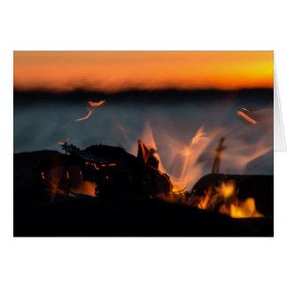 Sunset sparks card