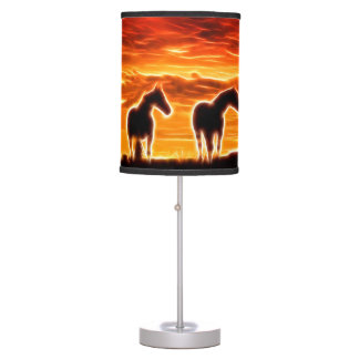 Sunset Spirit Of The Horse Table Lamp