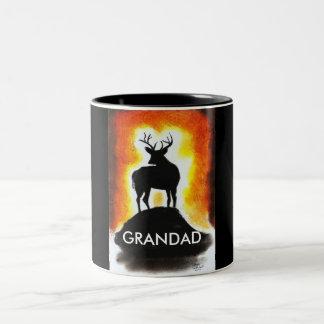 sunset stag -  GRANDAD'S MUG