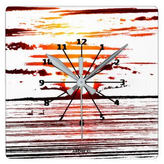 Sunset Streak Acrylic Wall Clock