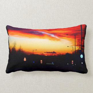 Sunset Street Scene 02 Lumbar Pillow