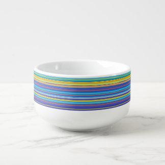 sunset stripes soup mug