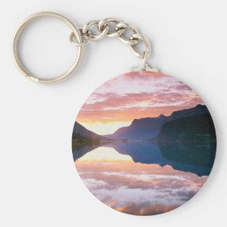 Sunset Strynsvatnet Sunrise Norway Key Chain