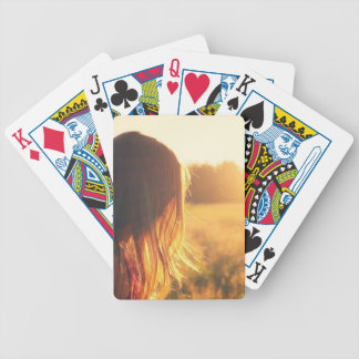 sunset style photography design bicycle playing cards