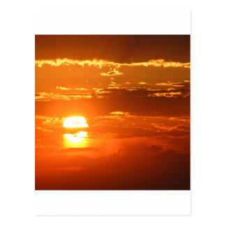Sunset Sunbeam Sky Postcard
