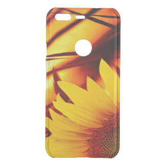 Sunset & sunflower uncommon google pixel case